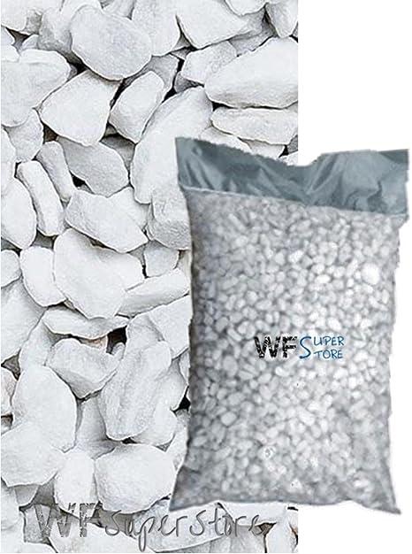 graniglia de mármol Blanco carrara 9/12 mm – Saco de 25 kg – Guijarros Piedras Jardín: Amazon.es: Jardín