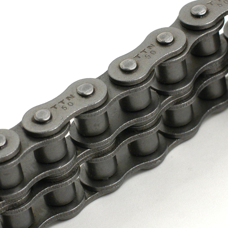 40-2RIV Roller Chain,Riveted,40-2,10 ft
