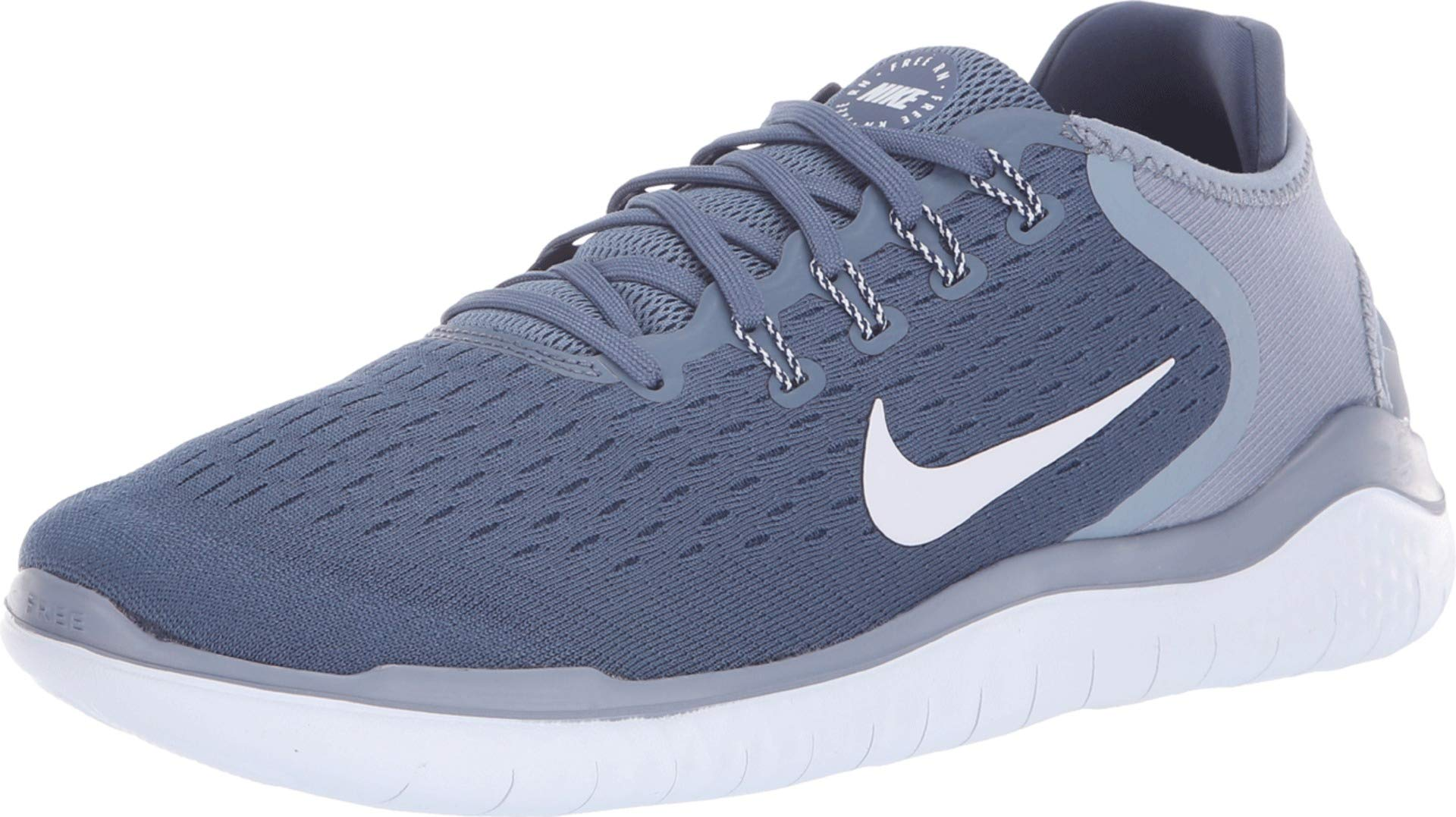 469ae450e03e Galleon - Nike Men s Free Rn 2018 Running Shoe (Diffused Blue Football Grey-Ashen  Slate)