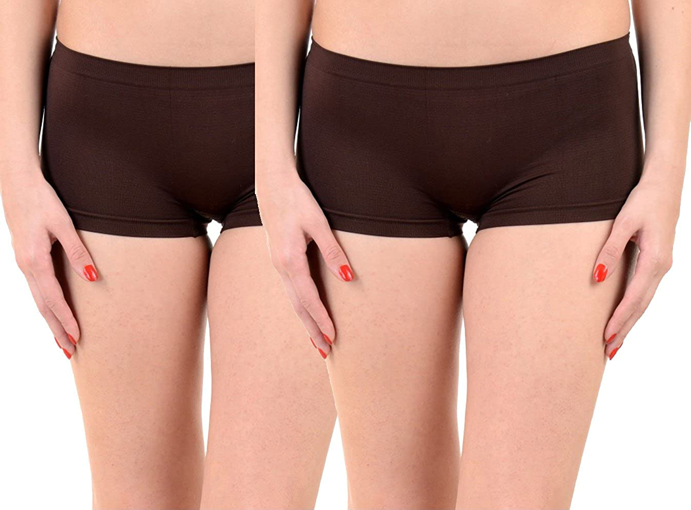 9bf3af1277e Lienz Women Boy Short Panties Pack of 2 ( Brown ): Amazon.in: Clothing &  Accessories