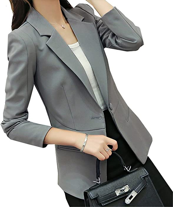 LeNG Autumn Jackets Women Long Sleeve Single Button Female New Chaquetas 7 colors Mini Blazer Feminino