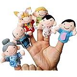 Malloom® 6pcs Nouvelle Famille Douce Membre Marionnettes BéBé Doigts Jouets En Peluche