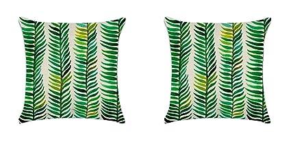 Amazon Com Green Leaf Outdoor Cushion Cover Durable Cotton Linen