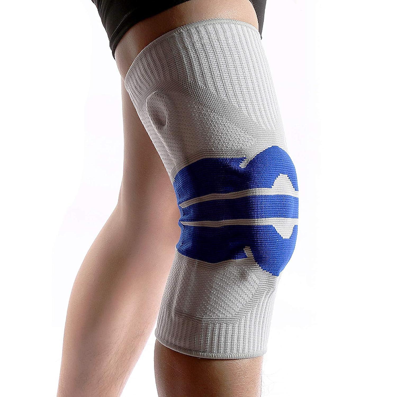 Rodillera con Almohadilla de Compresión Transpirable, Soporte Antideslizante para Aliviar el Dolor Articular/Artritis/Lesiones, para Hombres/Mujeres, Correr/Caminar, Uno