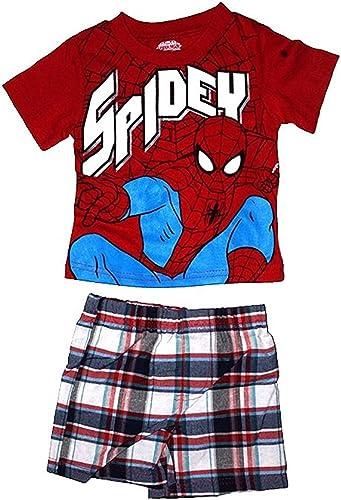 Marvel Spider Man Baby Boys T Camisa & de cuadros corto ...