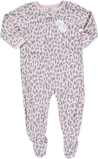 Carters Just One Year Baby//Toddler Girls Long-Sleeve Footed Blanket Sleeper Set