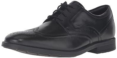 Rockport Men's Dressports Business Wing Tip Shoe, Black, ...
