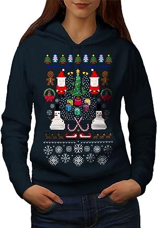 Wellcoda Père Noël Bonhomme De Neige Noël Femme Sweat à