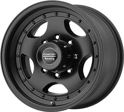 "16/"" American Racing AR172 Baja Black Wheel 16x8 8x6.5 0mm Chevy GMC Dodge Ram"