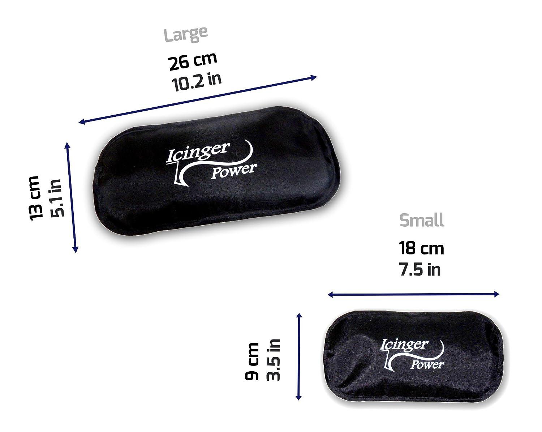 320g Enveloppe Robuste En Nylon Gel Puissant 4 Grands Packs Chaud Froid Icinger Power 26x13cm