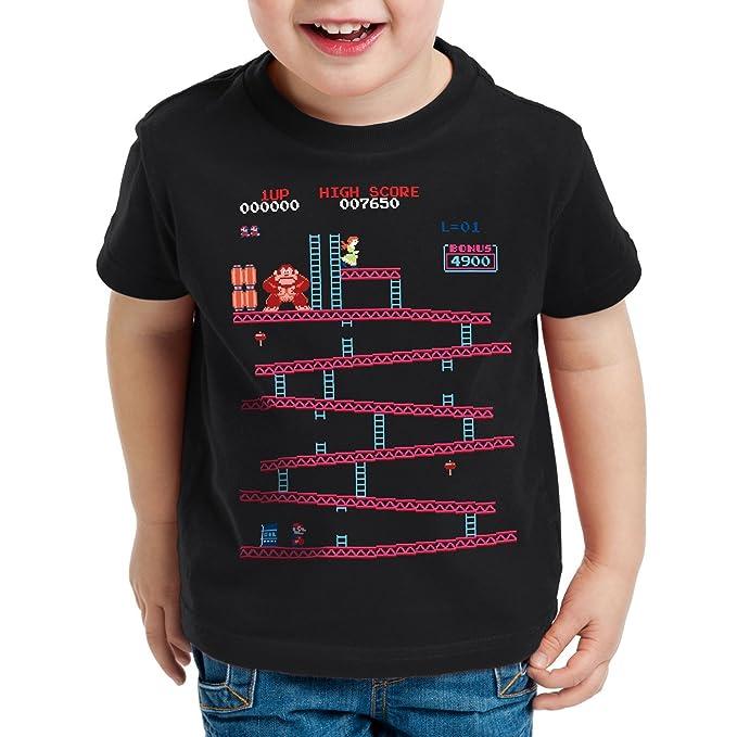 style3 Retro Kong Camiseta para Niños T-Shirt Donkey Geek NES Nerd Gamer   Amazon.es  Ropa y accesorios 2d1a12f9ee9