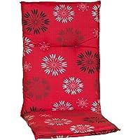 Beo Cojín para Silla de jardín Serie Barcelona M301, con Respaldo Alto, Color Rojo, 118 cm…