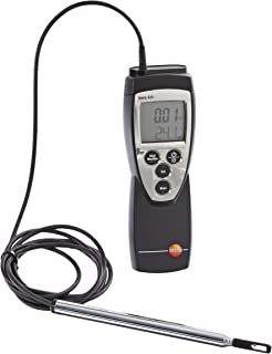 Testo 425 Compact Digital Hot-Wire Anemometer, 0 to 20 m/s Velocity