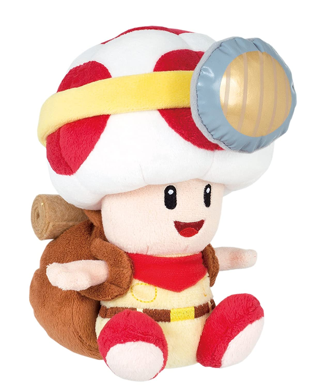 Sanei Super Mario Series Sitting Pose Captain Toad Plush Toy, 6.5