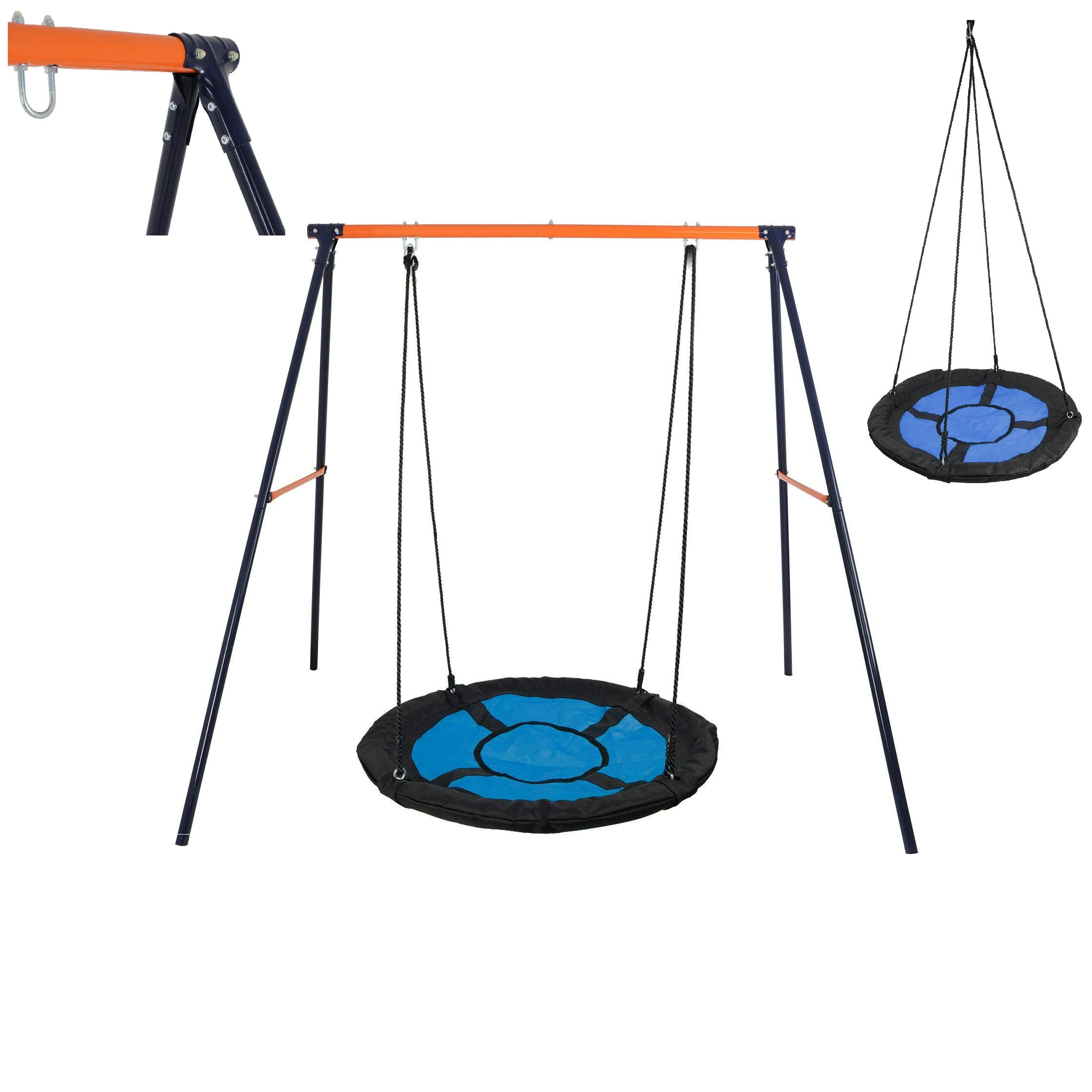 Safety AFrame Swing Reliable Stand Play w/Large 40'' Platform Saucer Tree Swing up 444LB Quick Arrive