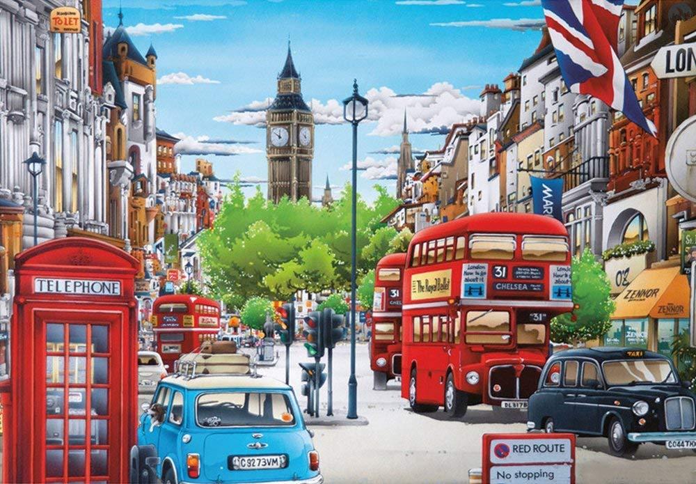 Dorara Broderie Diamant kit Complet,Peinture numéro Adulte,Peinture par Numero,Big Ben, Londres