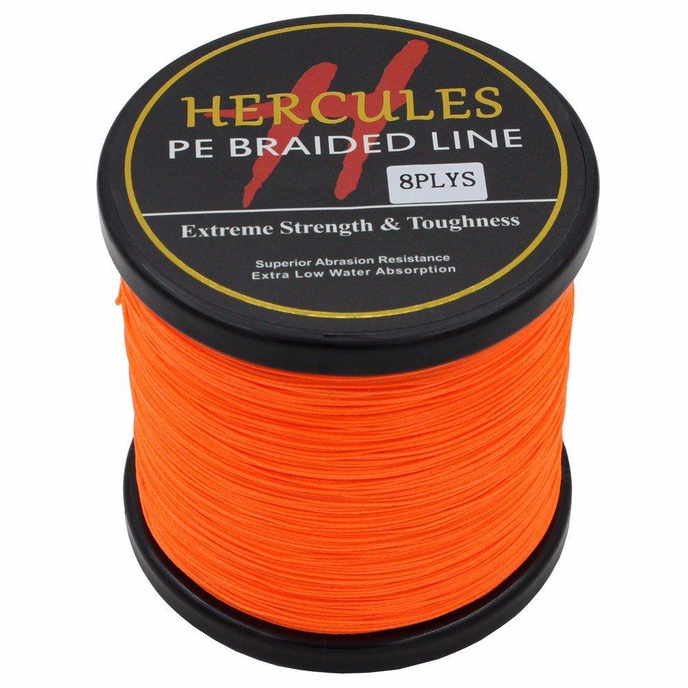 500 m 547ydsオレンジ10lbs-300lbs Hercules PE Dyneema編組釣りライン8ストランド B0732YL5QL