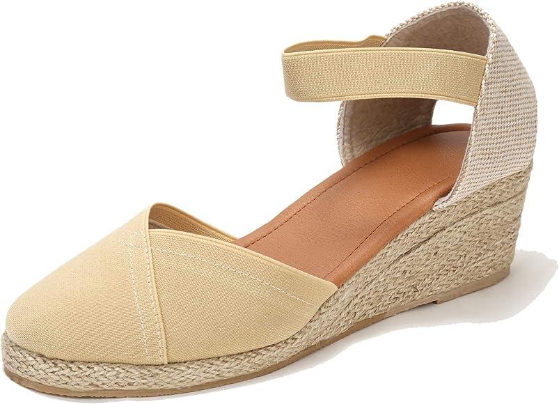 Wedges Sandals White6.5 Beige