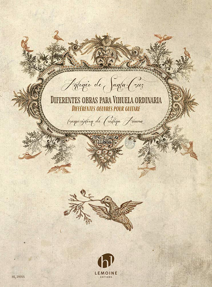 Differentes Obras Para Vihuela Ordinaria (Guitar Score) (French Edition) by Editions Henry Lemoine