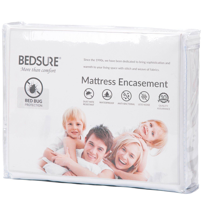 Bedsure Mattress Encasement Twin XL/Twin Extra Long Size Mattress Cover Bed Bug Mattress Protector Waterproof Zippered