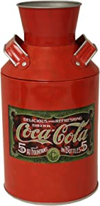 The Tin Box Company Coke Replica Milk Can, Red, 4-1/4 x 8""
