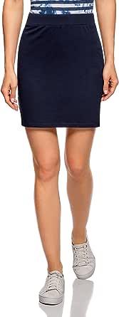 oodji Ultra Mujer Falda Básica de Punto