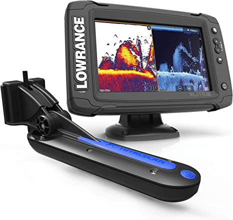 Lowrance Elite-7 Ti Touch Combo w/totalscan Transom Mount + ...