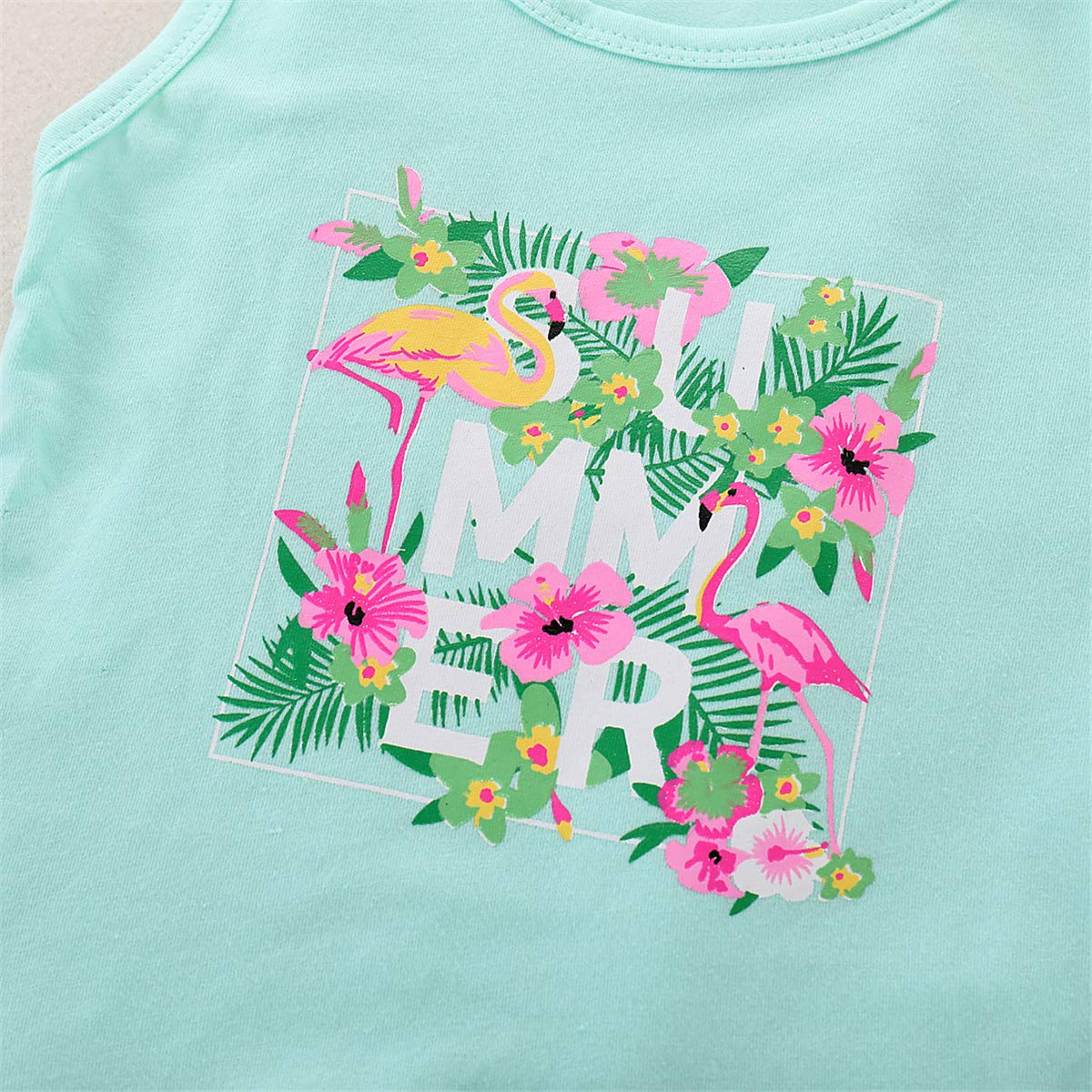 Sleeveless Shirt Shorts SANGTREE Baby Girls Cute Outfit
