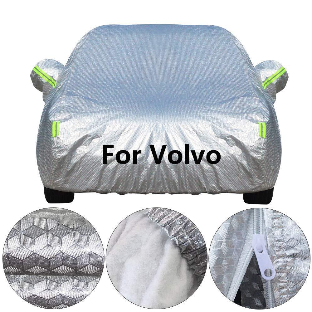 Colore : 2L Oevina Copriauto Impermeabile Copriauto in Cotone Impermeabile Sole Pioggia Neve Grandine Proteggi Copertura per Volvo V40 XC90 XC60 V50 V60 V70 760 850 940 960 C70