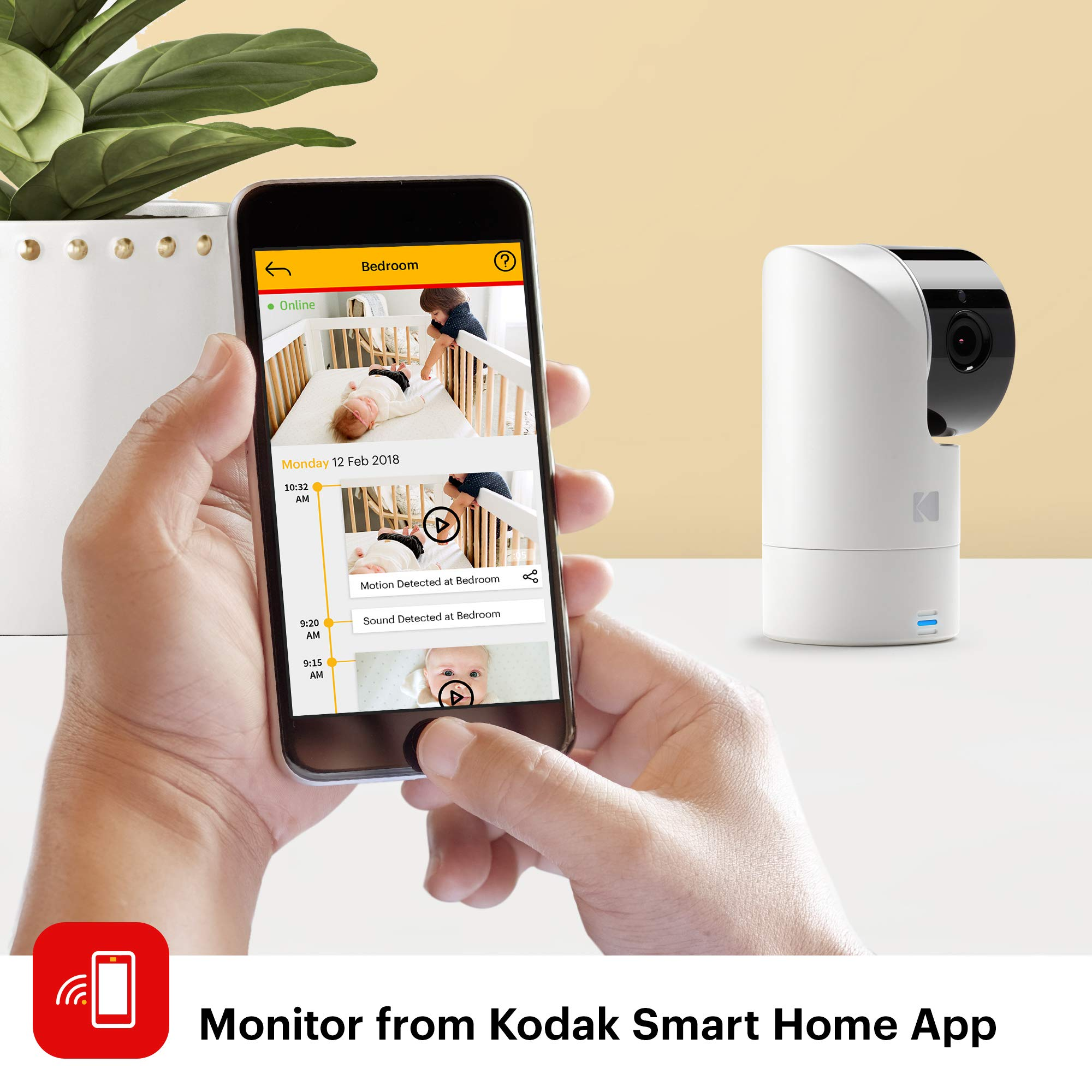 KODAK Cherish C525 Video Baby Monitor + C125 Additional Camera - with Mobile App - 5'' HD Screen - Hi-res Baby Camera with Remote Tilt, Pan and Zoom Two-Way Audio, Night-Vision, Long Range by Kodak (Image #5)