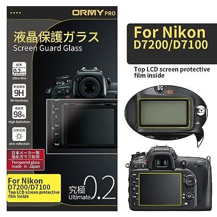 ORMY 0.2mm Protector de pantalla para cámara para Nikon D7200 ...