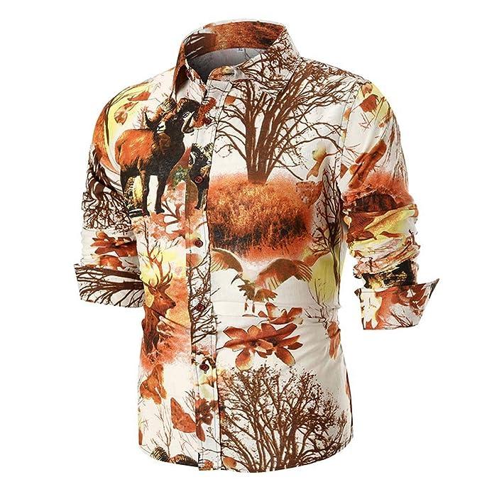 Polo, Camisetas, Blusa, BaZhai, Camisa Cómodo y Transpirable de diseño F de Personalidad de los Hombres Arriba de Camisa de Manga Larga Delgada Ocasional ...
