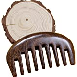 Wood comb Wooden wide tooth hair comb detangler brush -Anti Static Sandalwood Scent handmad with gift package