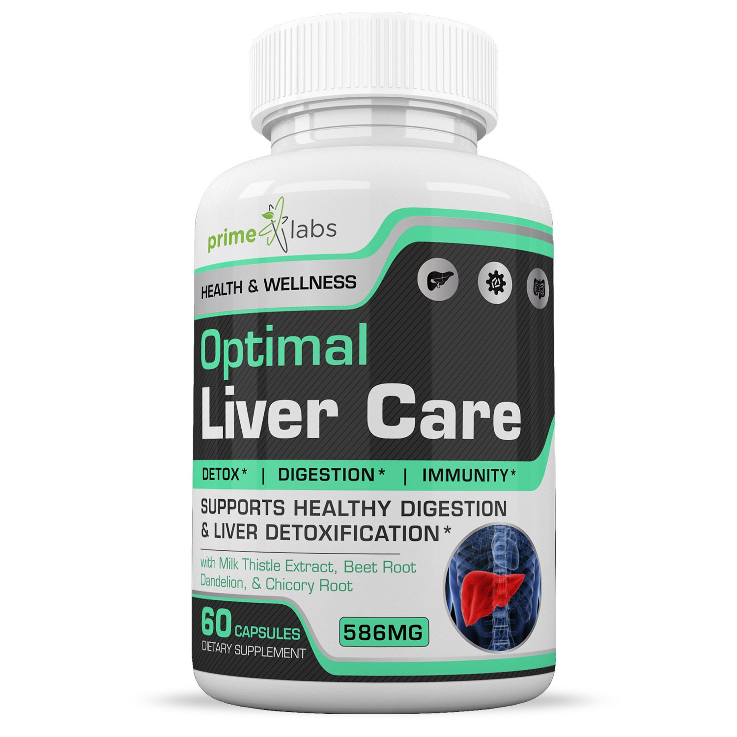 Optimal Liver Care Liver Cleanse Pills That Work – Natural Detox and Digestion Aid with Milk Thistle Extract, Beet Root, Dandelion, Chicory Root – Rid Your Body of Toxins and Feel Better – 60 Capsules