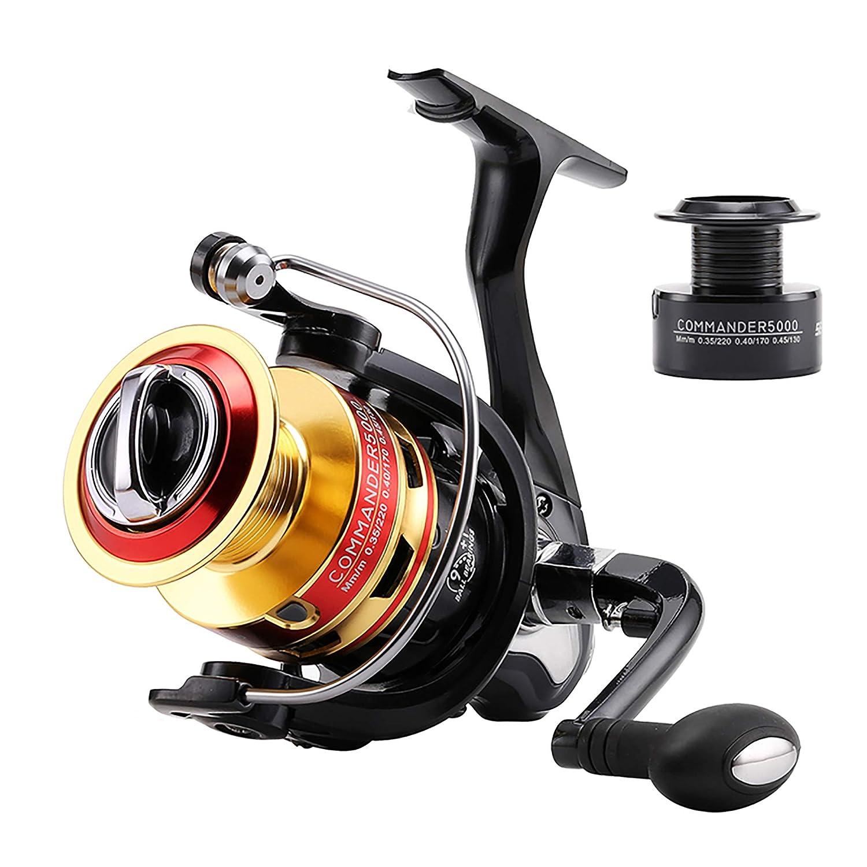 NaJi Spinning Fishing Reel 9 1BB, 5.2 1,4.7 1 Gear Ratio, Full Metal Cup Long Shot Fishing Reel