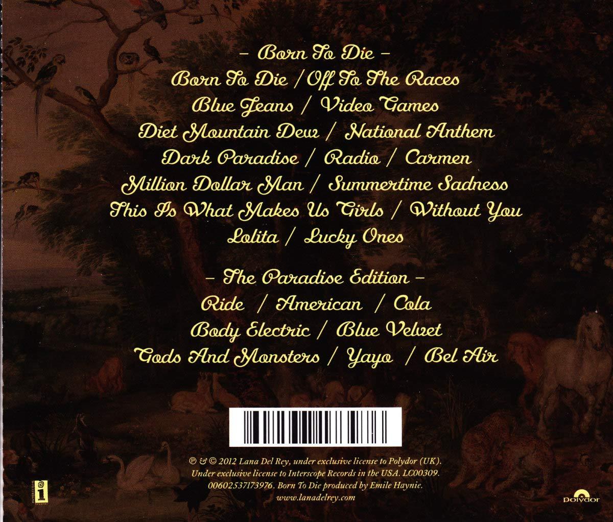 Del Rey Lana Born To Die Paradise Edition Amazon Com Music