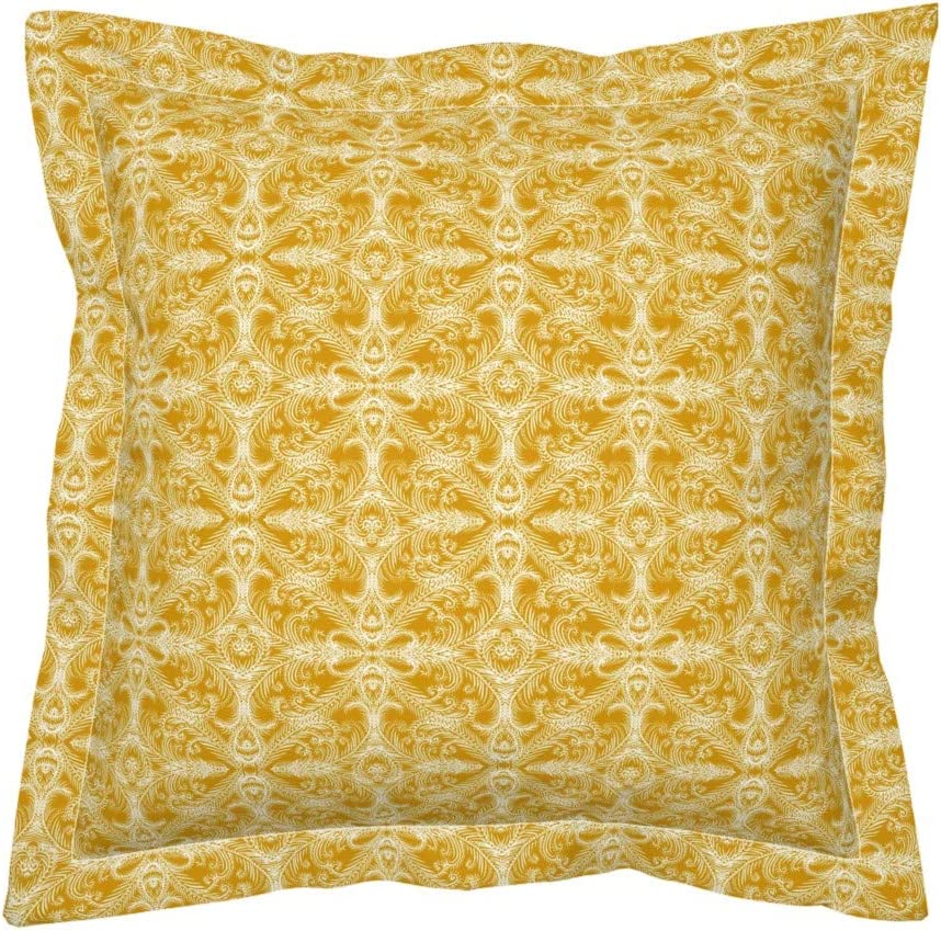 Stone D.L Rhein Athens Embroidered Linen Pillow 14x20 Inch