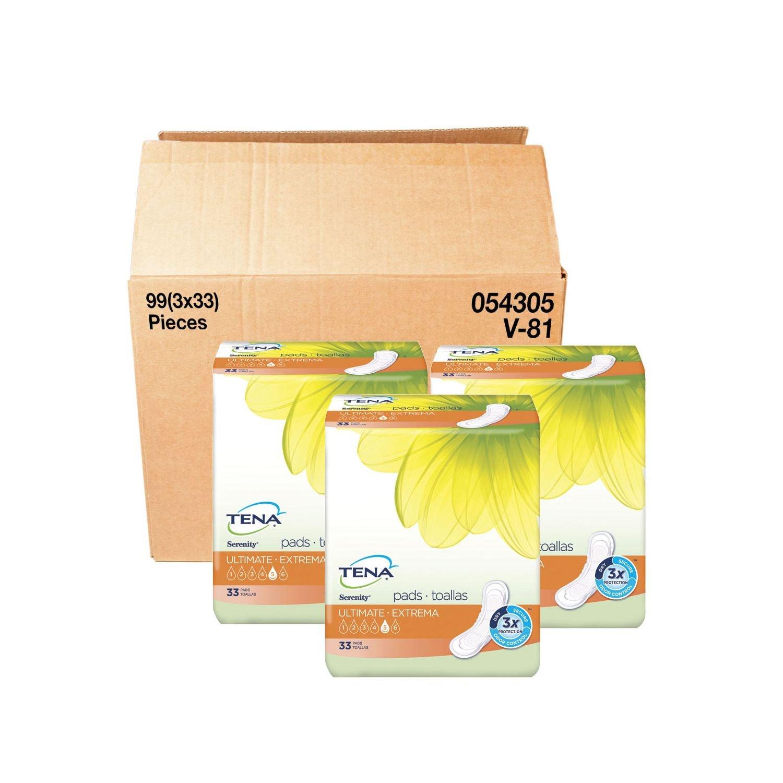 Amazon.com: TENA Incontinence Pad for Woman Bundle, Ultimate Regular (99 ct.) - 3 BOX: Health & Personal Care
