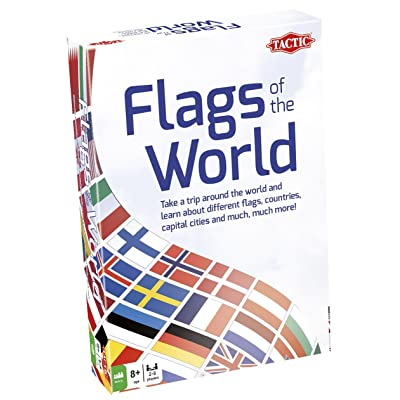 Tactic Games US Flags of The World Family Card Game - Educational & Fun - Play & Learn About Flags, Nations & Geography: Toys & Games