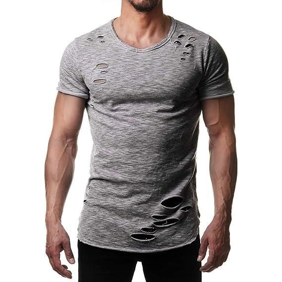 premium selection 96d7c 43a62 Longra Maglietta da Uomo Estate Manica Corta T Shirt Casual ...
