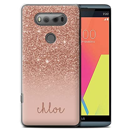 buy online 829f7 42ea5 Personalized Custom Glitter Effect Case for LG V20 F800/H990/VS995 / Rose  Gold Design/Initial/Name/Text DIY Cover