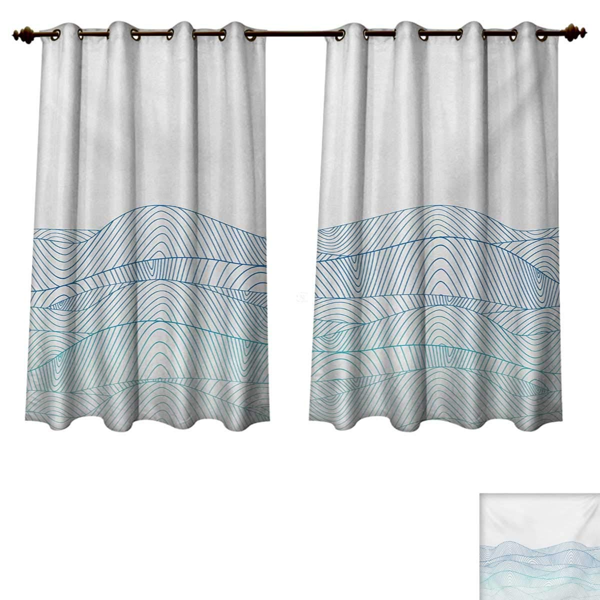 Amazoncom Rupperttextile Blue And White Blackout Curtains Panels