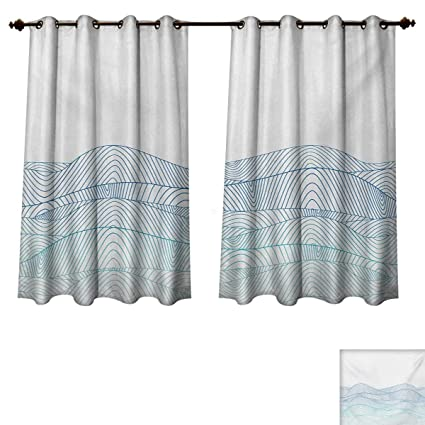 Amazoncom Rupperttextile Blue And White Blackout Curtains Panels
