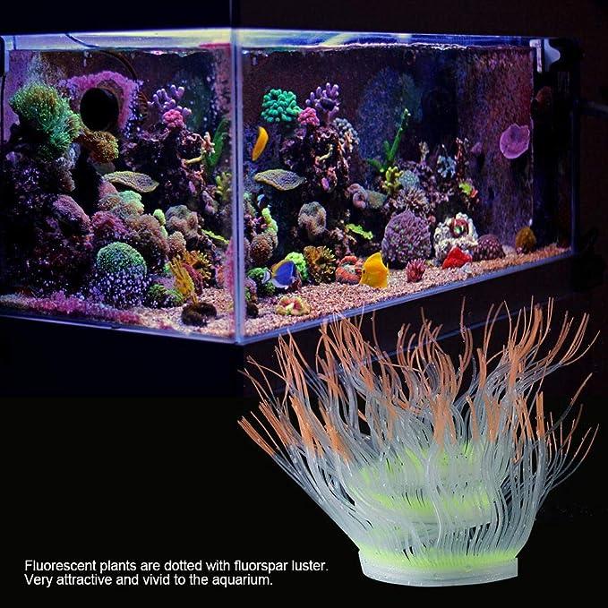 Fdit Socialme-EU Adorno de Plantas Vivid Artificial Coral para Acuario Submarino Pez Tanque Jardin Acuarios y Peceras(Naranja): Amazon.es: Productos para ...