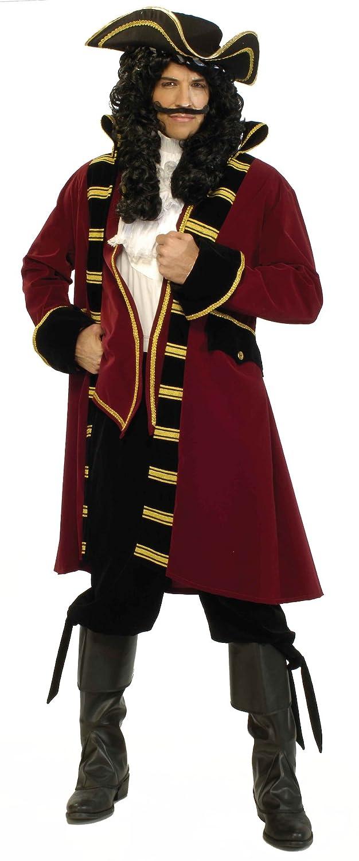 Men's Captain Hook Neverland Pirate Adult Size Costume Set - DeluxeAdultCostumes.com