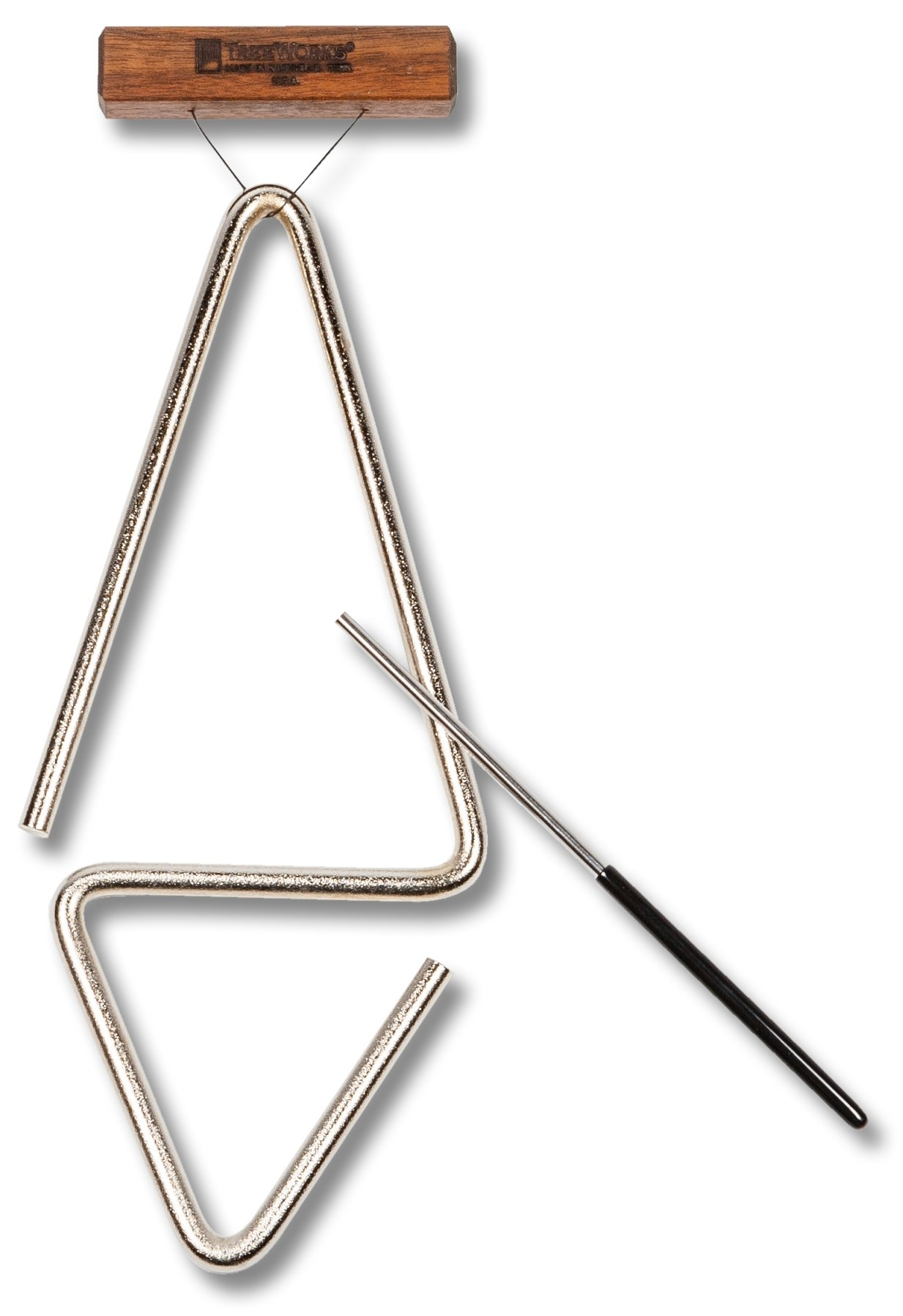 TreeWorks Chimes TRE1d Made in USA Double-Sided Studio Triangle with Holder and Beater