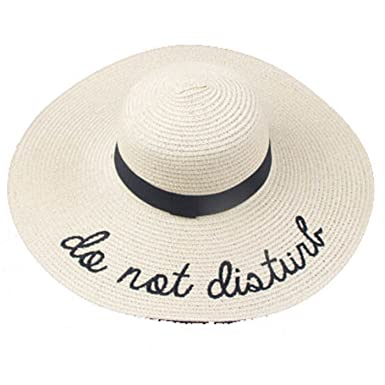 fe1e223d Miki Da New Summer Women Sun Hat Ladies Wide Brim Straw Hats Foldable Beach  Panama Hats Church Hat Bone Chapeu Feminino - Beige - One Size: Amazon.co.uk:  ...