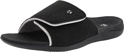 Vionic Kiwi Slide Sandal Black/Grey