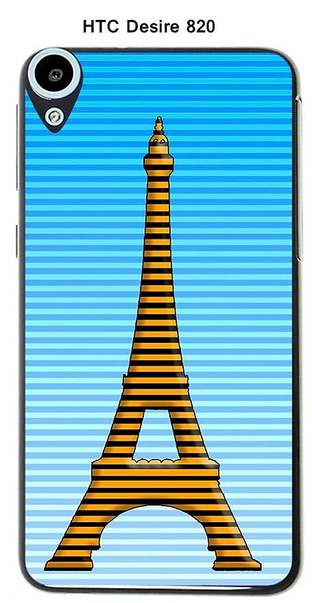 Onozo Carcasa HTC Desire 820 Design Paris Tour amarillo ...
