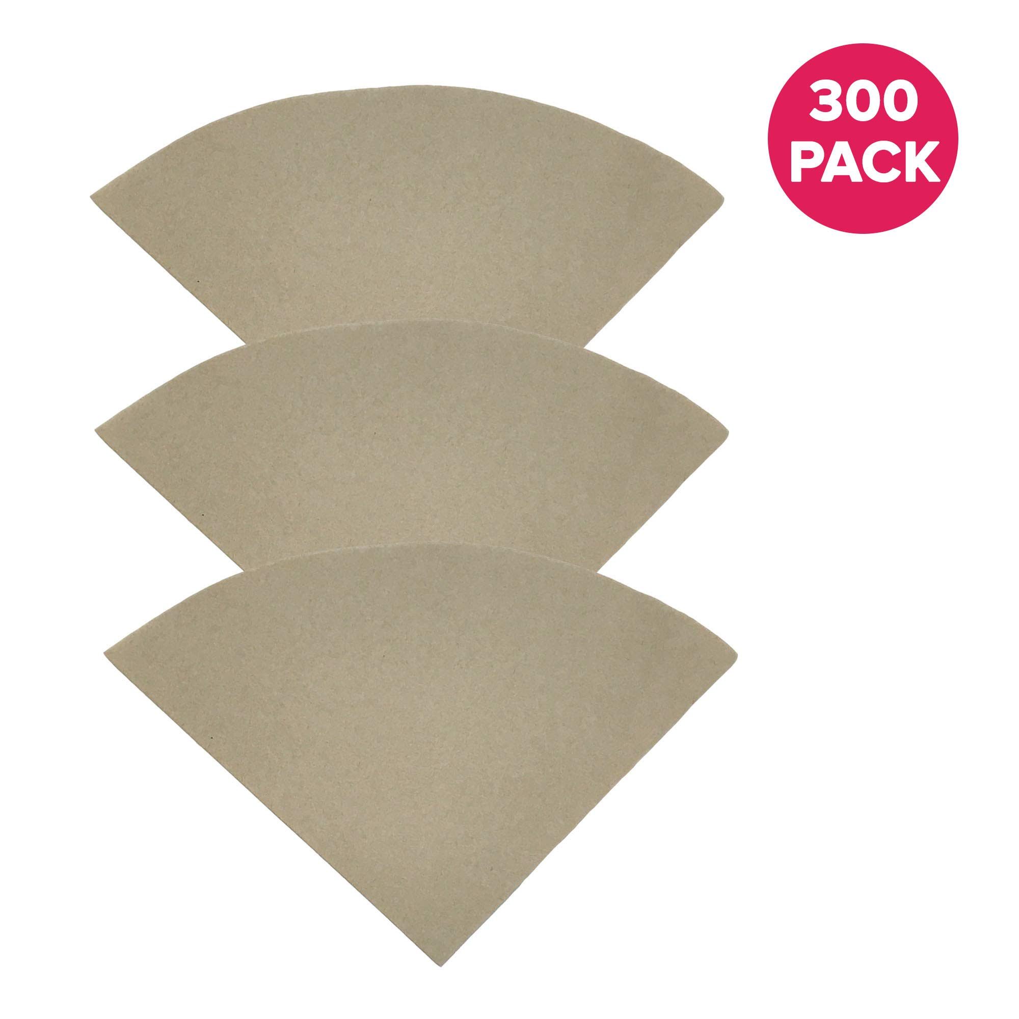 Think Crucial 300PK Compatible Replacement Unbleached Paper Coffee Filters For 6, 8 & 10 Cup Chemex-Brand Coffee Makers